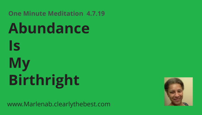 oneminutemed4719abundanceismybirthright